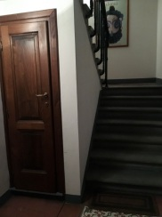 When you walk into my apartment, you are greeted with a lovely set of stairs.